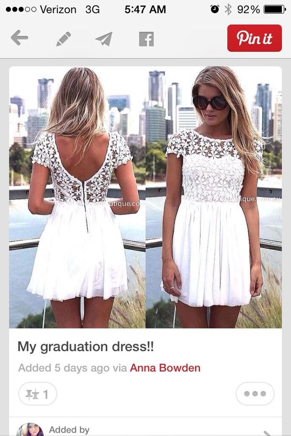dress floral lace pattern white dress