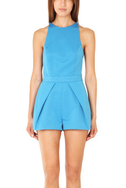 Camilla and Marc Nuance Romper in azure