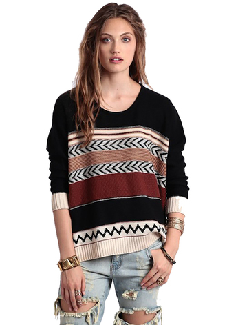 sweater print beige aztec from the border trending trendy shopsimplychic aztec sweater fall outfits fall sweater southwest burgundy navajo simplychic
