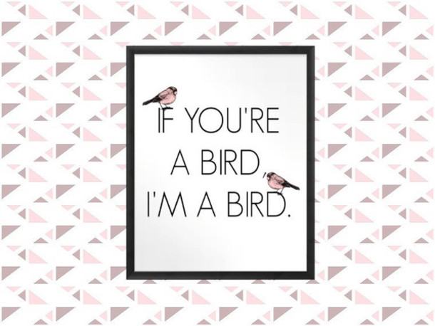 shirt quote on it decoration birds birds girly tumblr room