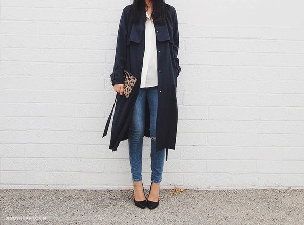 andy heart coat bag jewels jeans sunglasses blouse shoes