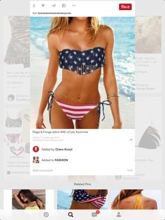 swimwear american flag