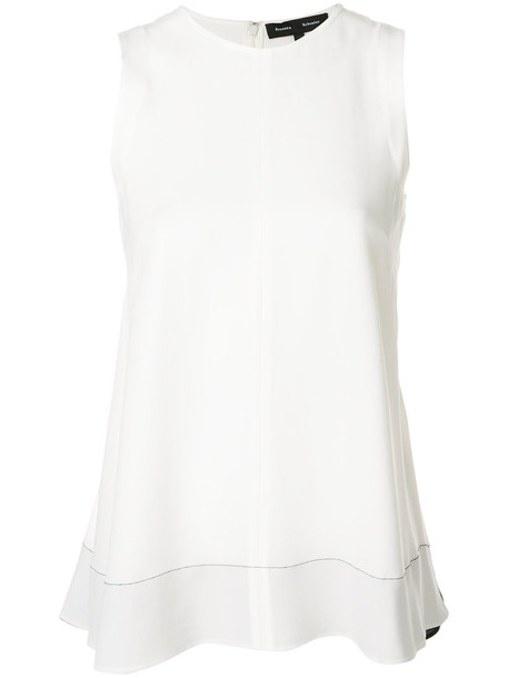 Proenza Schouler tank top top women white silk