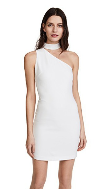 alice + olivia dress one shoulder dress white
