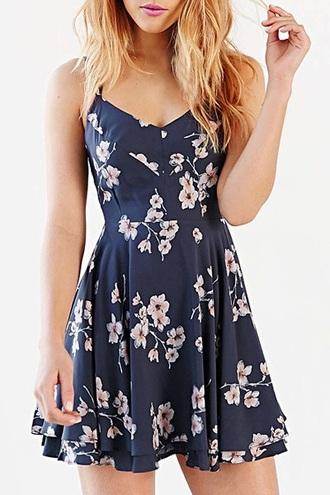dress navy floral dress summer dress