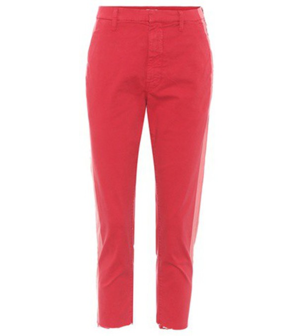 Mother The Shaker cropped trousers in red