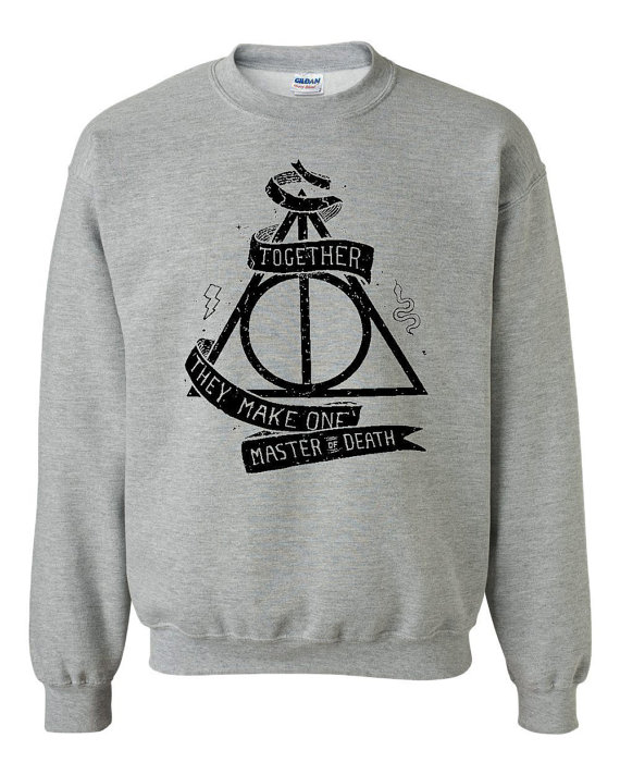 Harry Potter  Deathly Hallows Inspired Sweatshirt by FelShirt