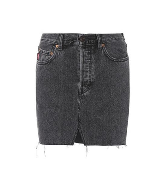Vetements Denim miniskirt in black
