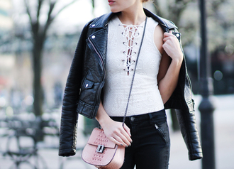 the marcy stop blogger jacket jeans sunglasses bag shoes