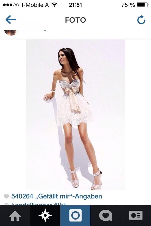 dress kendall jenner white lace dress