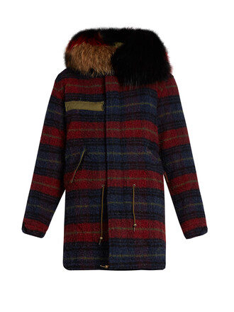 parka fur wool coat