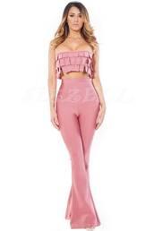 top,jumpsuit,pants,bandage,bandage pants,bandage top,pink,luxury,crop tops,bandeau