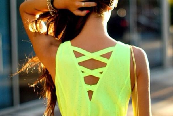 dress yellow dress dress or shirt neon green neon