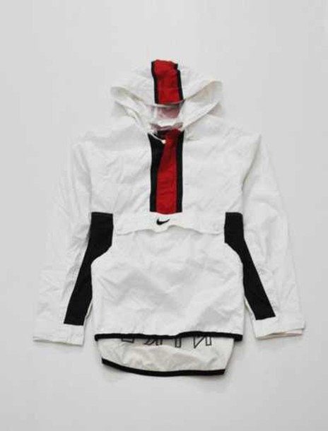 jacket nike nike vintage jacket nike windbreaker vintage dress white red  black coat white and red 76a387888