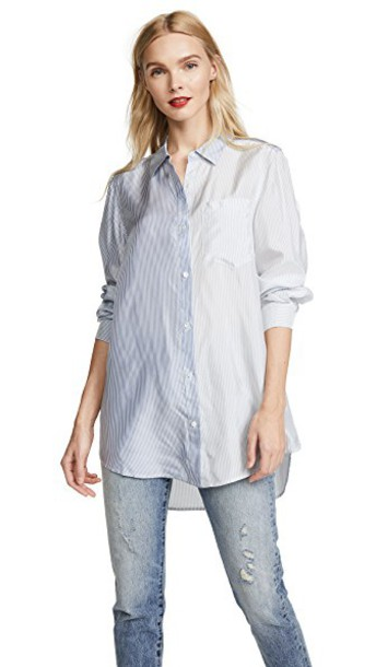 T by Alexander Wang shirt button down shirt long grey top