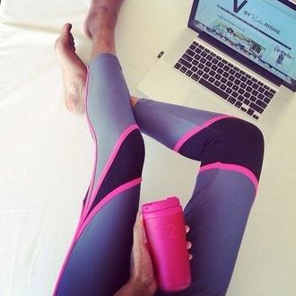 pants leggings nike pants nike leggings pink grey running leggings running pants nike running pants black t2 pink drink bottle pink bottle water bottle sportswear gym clothes workout leggings