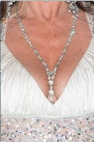 jewels beaded lariat diamonds bling-bling bling crystals necklace lisa vanderpump deep v neck jewelry costume jewlery