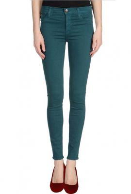 Hipster vibe low rise skinny jeans in dark teal