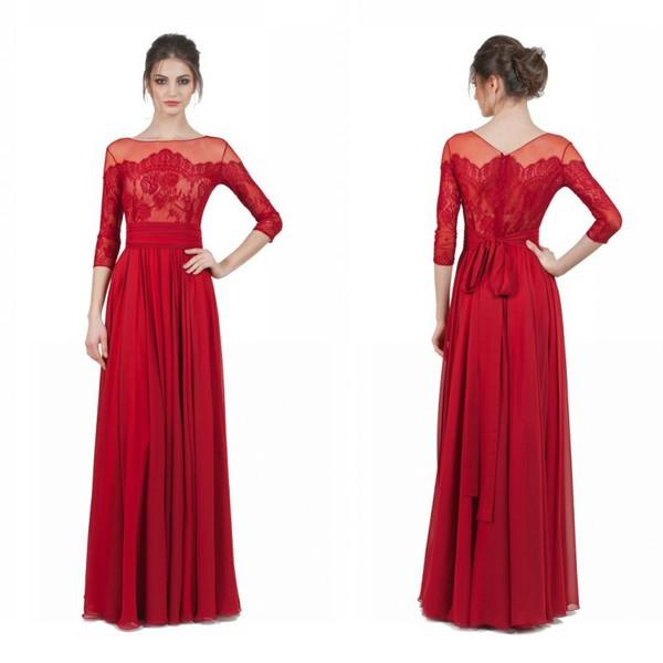 Second Hand Prom Dresses Red Lace Evening Vestidos De Festa Longo ...