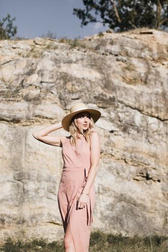 love lenore blogger dress hat midi wrap dress