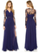 Nextshe 2015 women fashion elegant maxi vestido long sleeve embroidery spliced side slit pleated chiffon dress navy xs~xxl on aliexpress.com