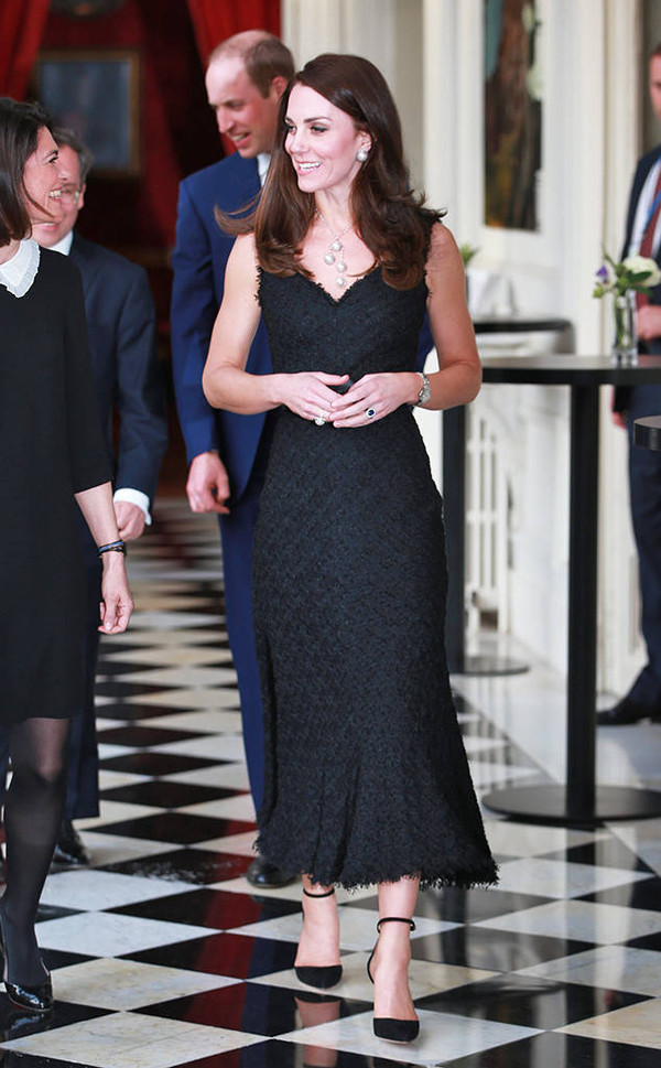 shoes pumps kate middleton midi dress black dress