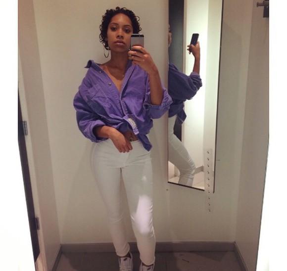 denim denim shirt purple denim shirt oversized purple shirt purple shirt purple oversized shirt oversized