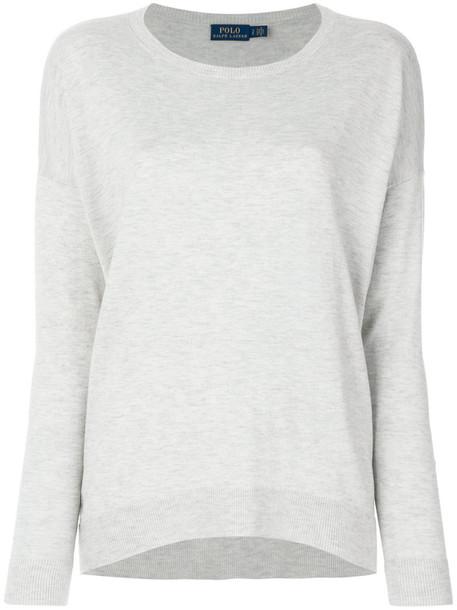 Polo Ralph Lauren jumper women wool grey sweater