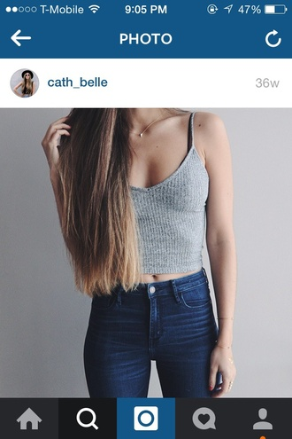 top grey top crop tops style cute knitwear summer outfits summer top summer