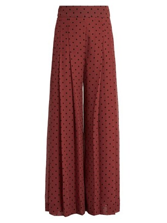 culottes pleated burgundy pants