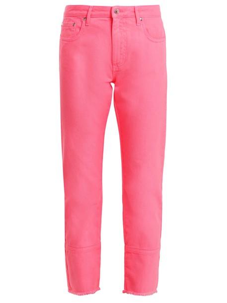 MSGM jeans high pink