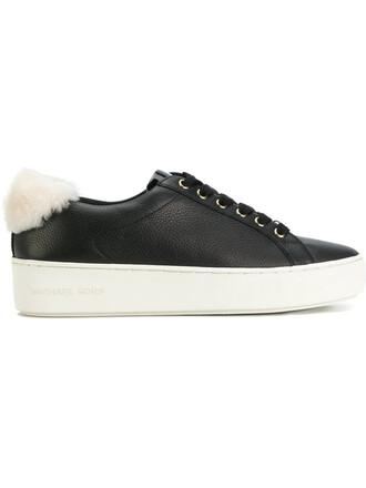 women sneakers platform sneakers leather cotton black shoes