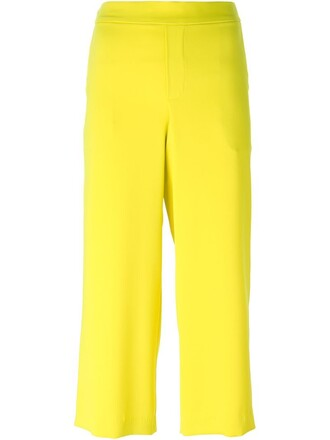 women yellow orange pants