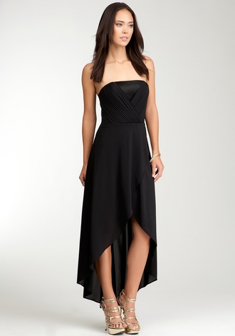 dress black hi lo high-low dresses special occasion