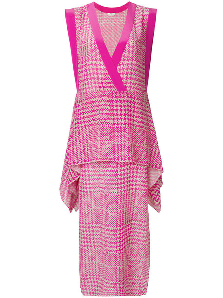 Fendi dress shift dress embroidered women silk purple pink