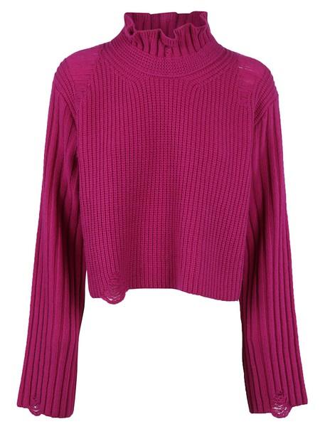 sweater knit purple
