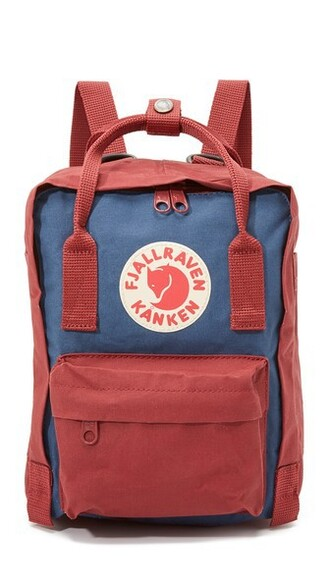 mini backpack blue royal blue red bag