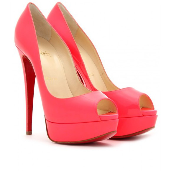 christian louboutin high heels coral
