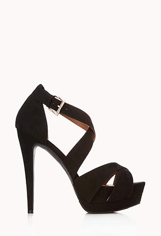 Bombshell Strappy Platform Sandals | FOREVER21 - 2000072252
