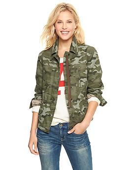 Printed utility jacket | Gap