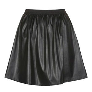 PRIMARK BLACK PU FAUX LEATHER SKATER SKIRT NEW BARGAIN | eBay