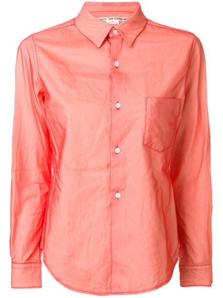 Comme Des Garçons - chest pocket shirt - women - Cotton/Nylon - S, Red, Cotton/Nylon