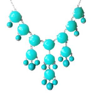 Amazon.com: Turquoise Bubble Necklace in Silver Tone (Fn0508-S-Turquoise): Y Shaped Necklaces: Jewelry