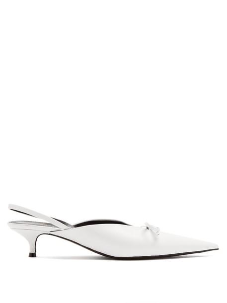 Balenciaga pumps white shoes