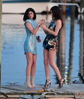 shoes,kendall and kylie jenner,strappy sandals,dress
