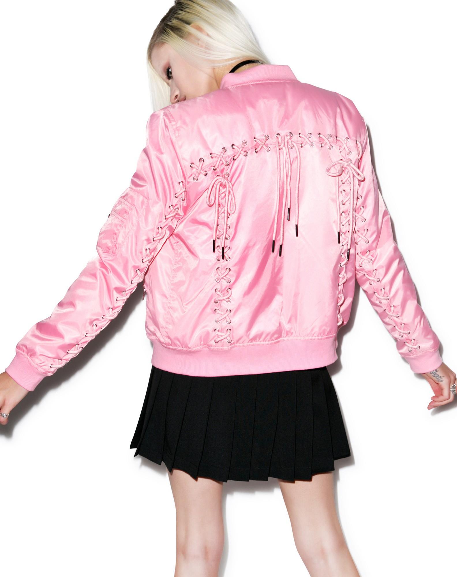 Mood Bomber Jackets: Current Mood Corset Princess Bomber Jacket