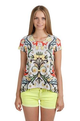 t-shirt womens t-shirt printed t-shirt print all over print full print jeans abstract