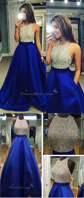 dress,molly_bridal,backless dress with beading,royal blue prom dress,prom dress