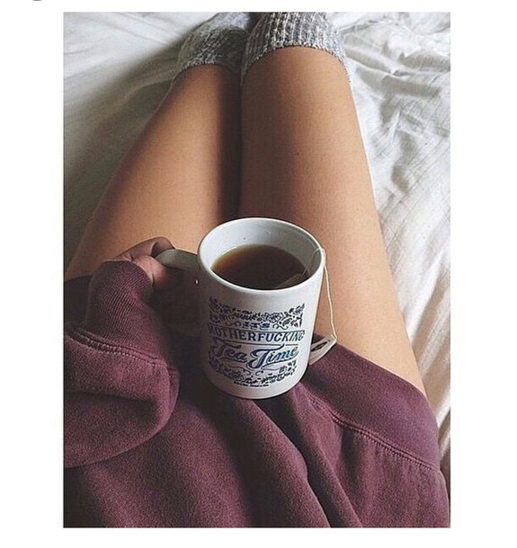 socks over the knee socks cozy tea oversized sweater christmas grunge jewels mug