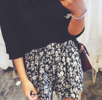shorts navy shorts style flowered shorts shoes